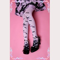 Diamond Honey Vampire Bats Lolita Thigh-high socks