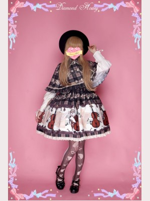 "Diamond Honey ""Cello Cats"" Lolita Dress"