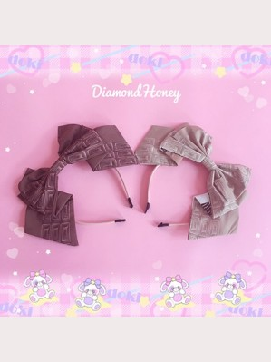 Diamond Honey Chocolate Bear Lolita Headbow KC