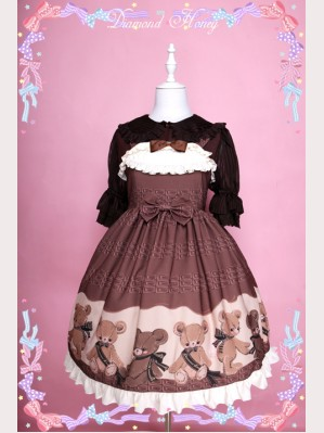 Diamond Honey Chocolate Bear Lolita dress JSK (Special Edition)