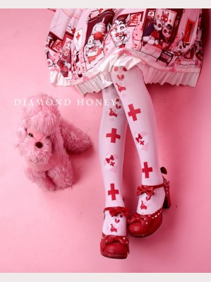 Diamond Honey Doll Nurse Lolita Thigh-high socks