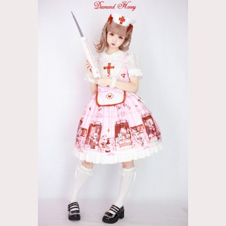 Diamond Honey Dolls hospital Lolita Dress JSK