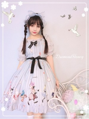 Diamond Honey The Book of Fantastic Alice Lolita Dress JSK