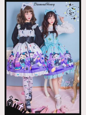 Diamond Honey Halloween Witch Town Lolita Dress JSK