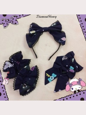 Diamond Honey Halloween Witch Town Lolita Matching Headbow/ Wristband/ Hairclips