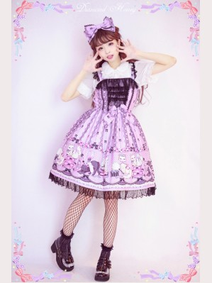 Diamond Honey Maid Cat Lolita Dress JSK