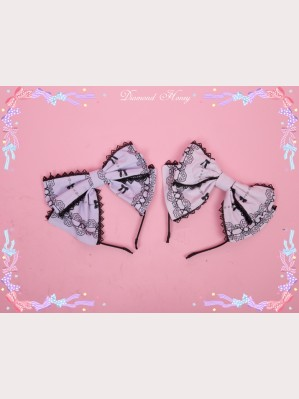 Diamond Honey Maid Cat lolita headbow KC