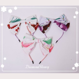 Diamond Honey Strawberry & Chocolate Lolita Headbow KC