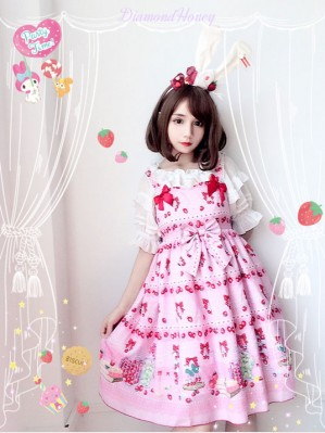 Diamond Honey Strawberry Research Room Lolita Dress JSK
