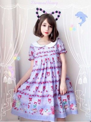 Diamond Honey Strawberry Research Room Lolita Dress OP