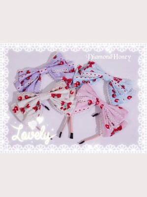 Diamond Honey Strawberry Research Room Lolita Headbow KC