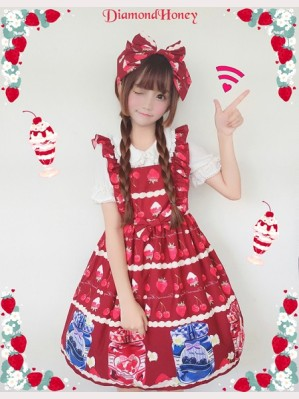 Diamond Honey Strawberry Blueberry Can Lolita Dress JSK