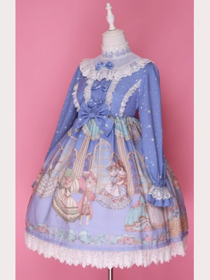"Diamond Honey ""Palace Dancing Cats "" Lolita Dress OP"