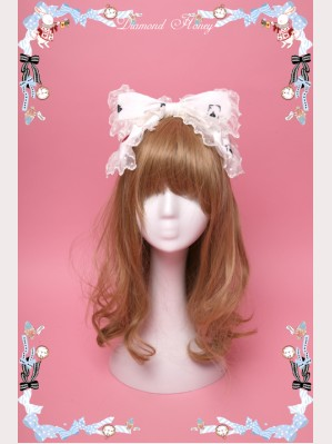"Diamond Honey ""Mirror Poker Alice"" Gothic Lolita Headbow KC"