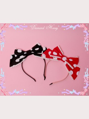 Diamond Honey Polka Dots lolita headbow KC