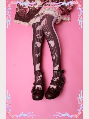 "Diamond Honey "" Violet Cat "" Lolita Thigh-high socks"