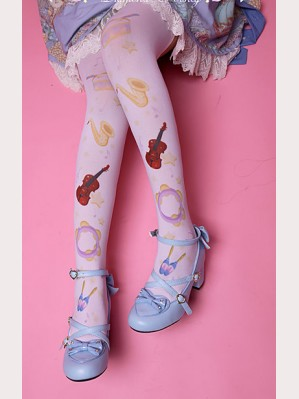 "Diamond Honey "" The concert on the clouds "" Lolita Thigh-high socks"