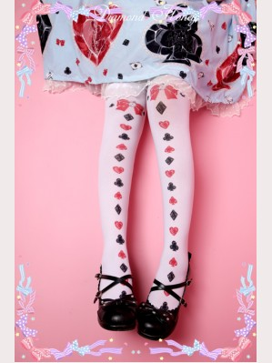 Diamond Honey Alice Poker Lolita Thigh-high socks