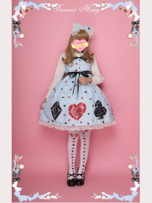 "Diamond Honey ""Mirror Poker Alice"" Lolita Dress JSK"