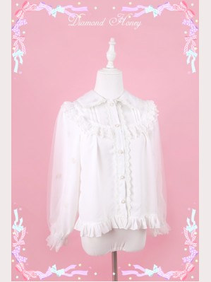 Diamond Honey Little Flower Fairy Chiffon Lolita Blouse