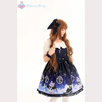 Diamond Honey Angel Cat & Devil Cat lolita dress JSK