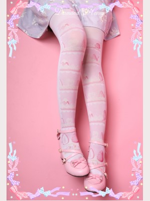 Diamond Honey strawberry cake Lolita Thigh-high socks