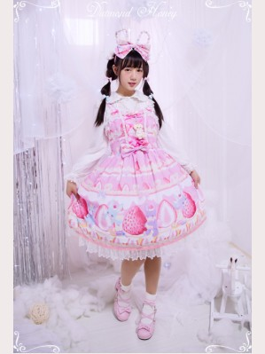 Diamond Honey Strawberry Cake Lolita Dress JSK