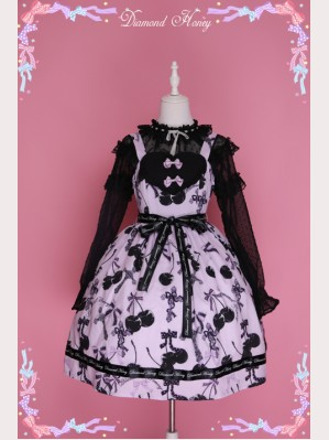 "Diamond Honey ""Cherry Cross"" Lolita Dress JSK"