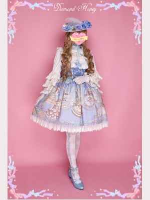 "Diamond Honey ""Palace Dancing Cats "" Lolita Dress JSK"