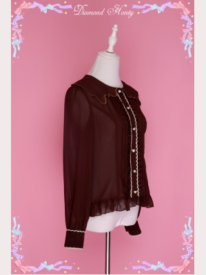 Diamond Honey Chocolate Lolita Blouse