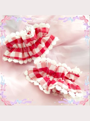 Diamond Honey Red Plaid Wristcuffs x 1 pair