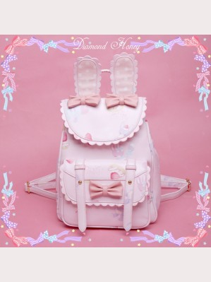 Diamond Honey Rabbit Ears Backpack