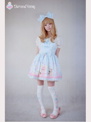 "Diamond Honey ""Toy's Paradise"" lolita suspender skirt"