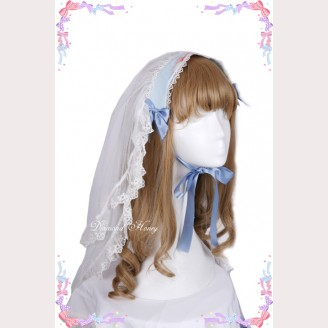 "Pre-order Diamond Honey "" Fairy tale roses rabbit "" Matching Veil"