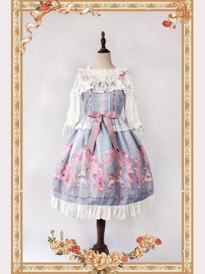 Infanta Merry-go-round print Lolita Dress JSK & KC Set