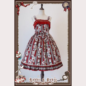Infanta Rabbit & Poker mini lolita dress JSK