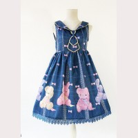 "Infanta ""Bear & Rabbit"" Lolita Dress JSK"