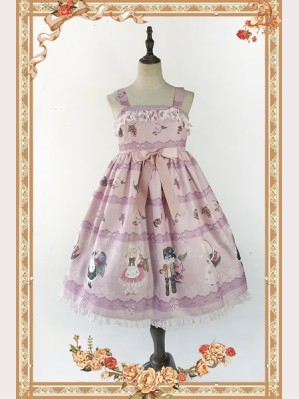 Infanta Berry Cat Lolita Dress JSK
