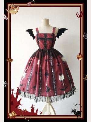 Infanta Cats & Bats Lolita Dress JSK