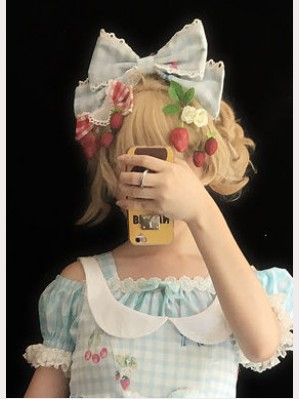 "Infanta ""Cherry Cat"" Lolita Headbow KC"