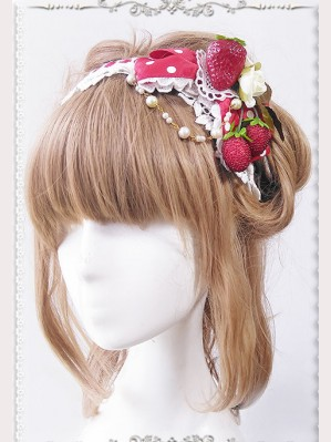 Infanta Strawberry Matching KC headbow