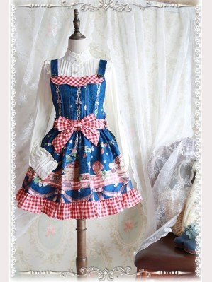 "Infanta ""Picnic Rabbit"" Lolita Suspender Skirt"