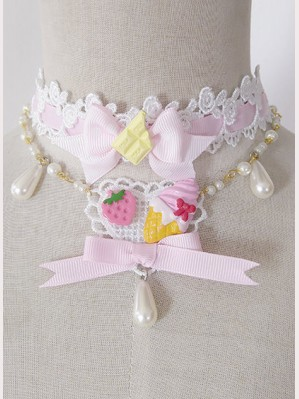 Infanta Strawberry Dessert  sweet lolita choker
