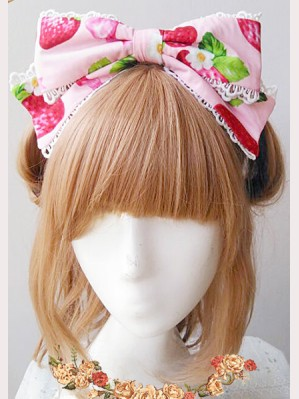 Infanta Strawberry Matching KC headbow 2