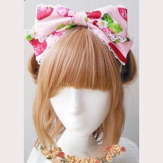 Infanta Strawberry Matching KC headbow 2
