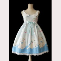 "Infanta ""Cherry Cat"" Lolita Dress JSK"
