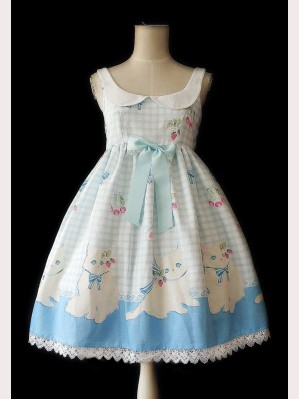 "Infanta ""Cherry Cat"" Lolita Dress JSK"