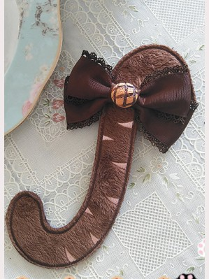 "Infanta ""Chocolate Trojan"" Cat Tail Brooch"