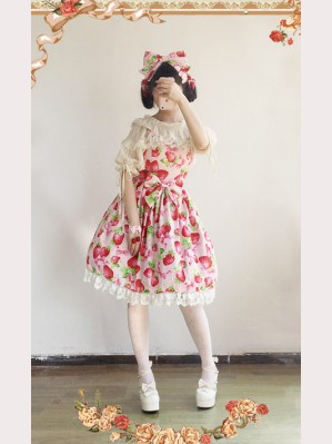 Infanta Strawberries Lolita Dress JSK
