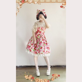 Infanta Strawberries Lolita Dress JSK